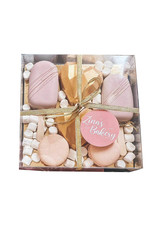 Clear sweets box - 15 x 15 x 3 cm  (per 100 pieces)