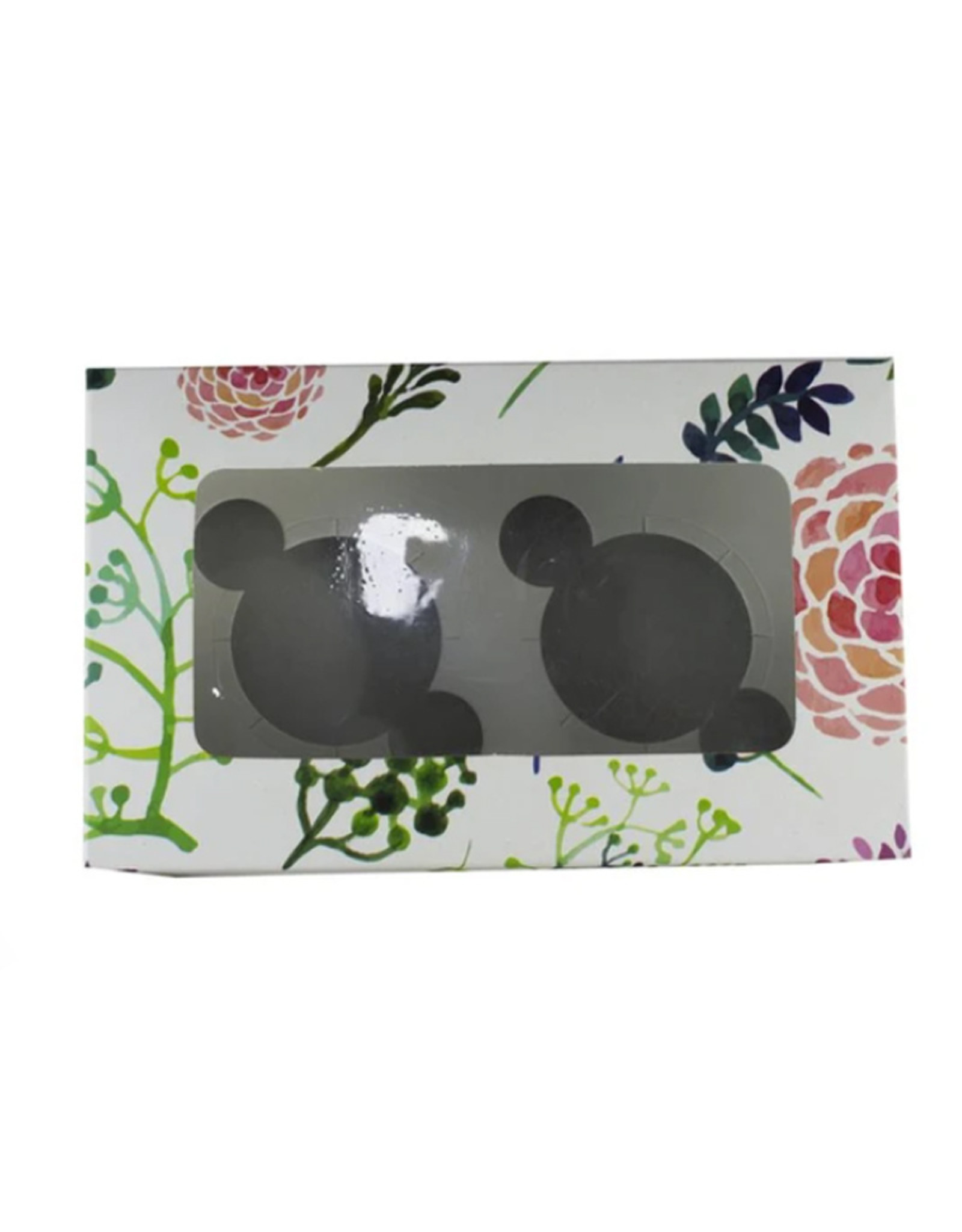 Floral box for 2 cupcakes (per 10 pieces)
