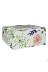 Floral box for 4 cupcakes (per 10 pieces)