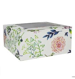 Fleurige doos voor 4 cupcakes (10 st)