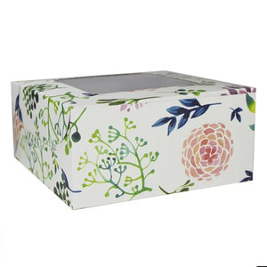 Floral box for 4 cupcakes (10 pcs)