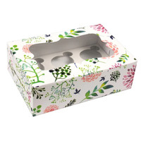 Floral box for 6 cupcakes (10 pcs)