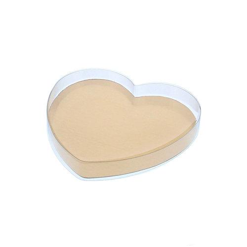 Clear heart box - 130 x 135 x 20 mm (per 100 pieces)