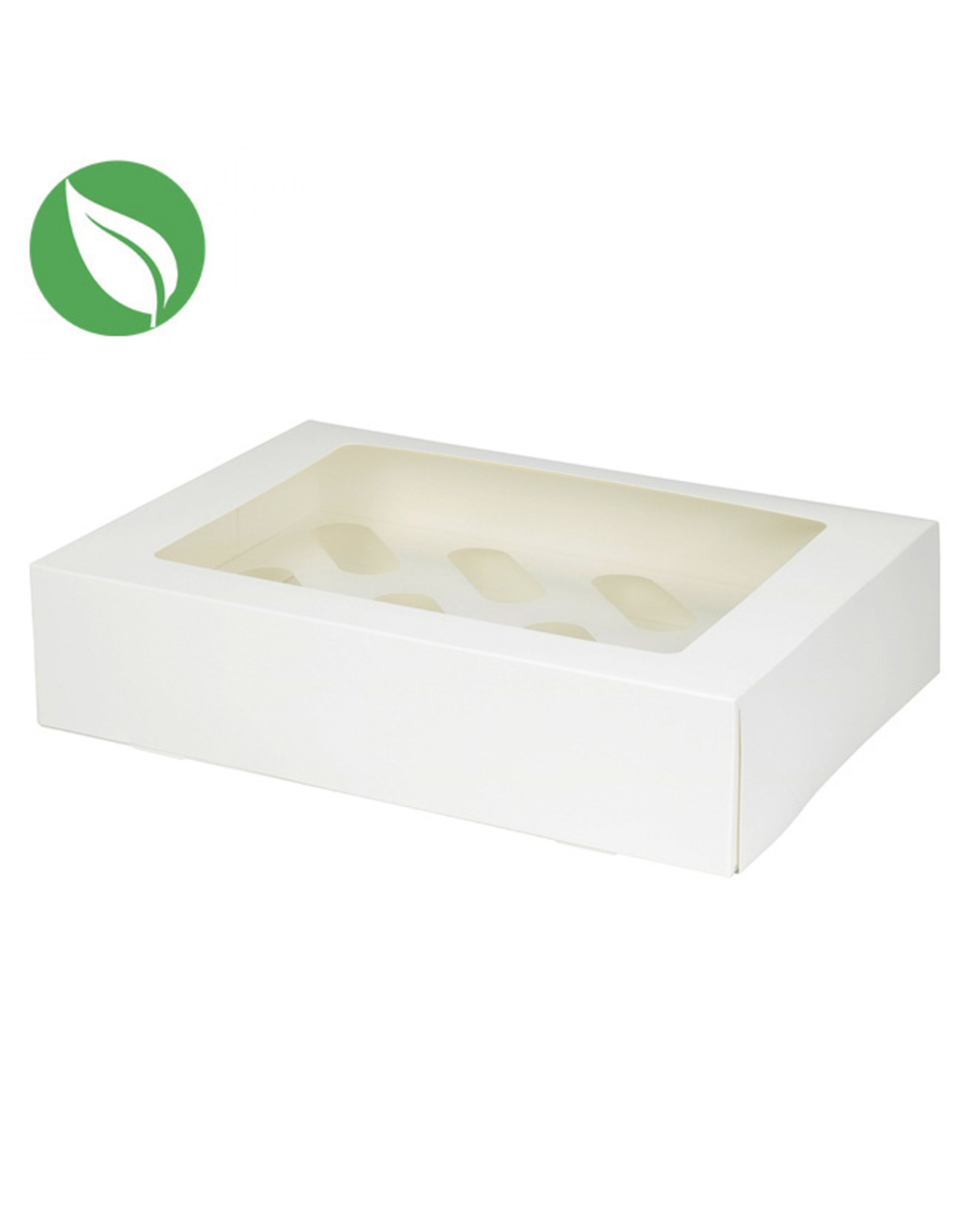 Biodegradable box for 12 cupcakes (per 25 pieces)
