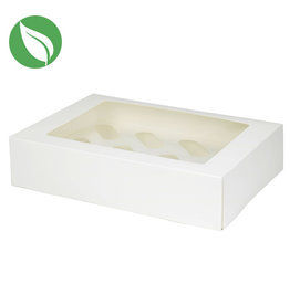 Biodegradable box for 12 cupcakes (25 pcs.)