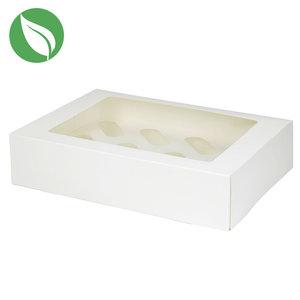 Biodegradable box for 12 cupcakes (25 pcs.)