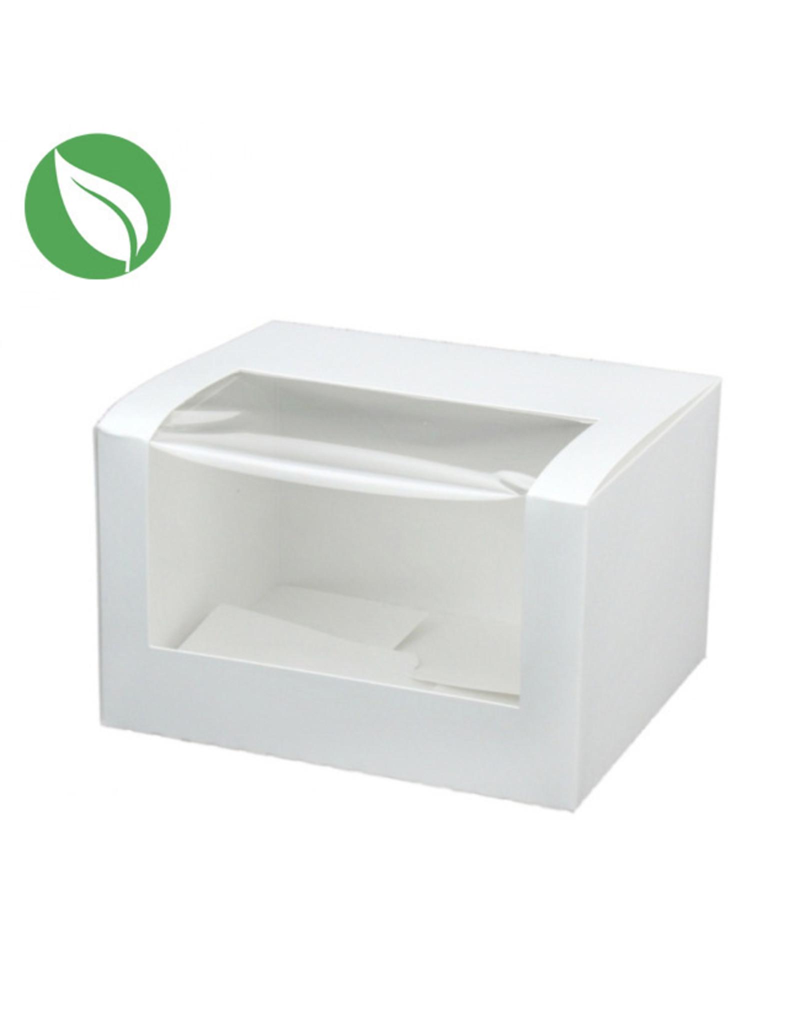 Biodegradable box - 13 x 11 x 8 cm (per 400 pieces)