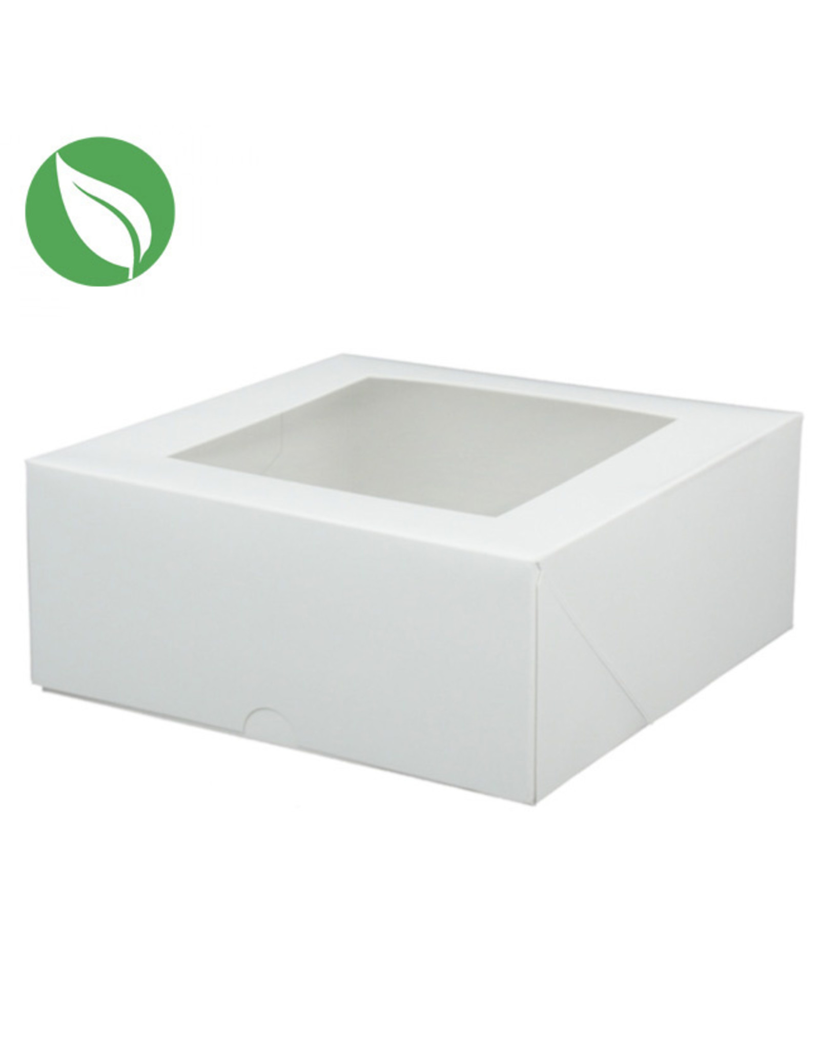 Biodegradable box - 18 x 18 x 7,5 cm (per 25 pieces)