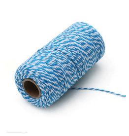 Touw blauw/wit (100 m.)