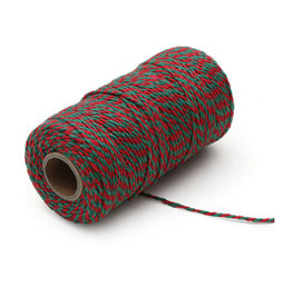 Twine green/red (100 m.)