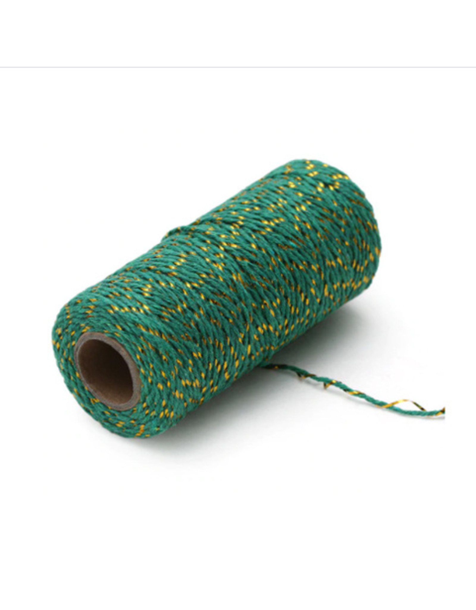 Twine green/gold (100 meters)
