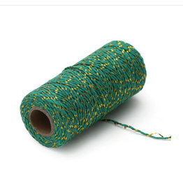 Twine green/gold (100 m.)