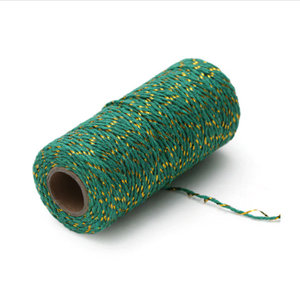 Twine green/gold (100 m.)