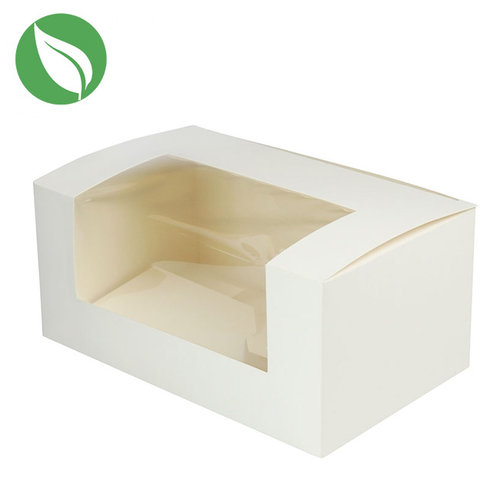 Biodegradable box for 2 cupcakes (per 50 pieces)