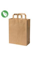 Kraft tas voor dozen van 1 en 2 cupcakes (per 250 stuks)