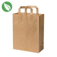 Kraft tas voor dozen van 1 en 2 cupcakes (250 st.)