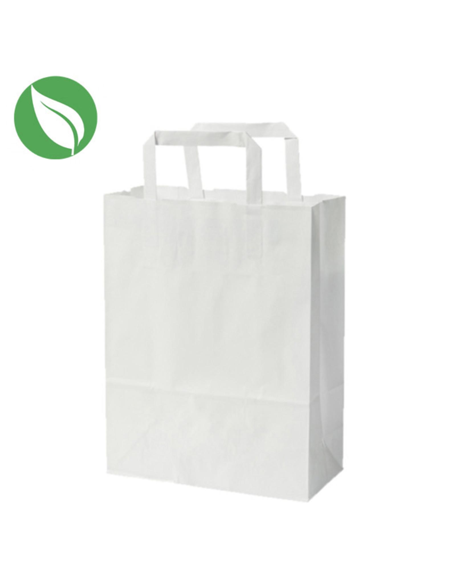 Witte tas voor dozen van 1 en 2 cupcakes (per 250 stuks)