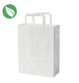 Witte tas voor dozen van 1 en 2 cupcakes (250 st.)