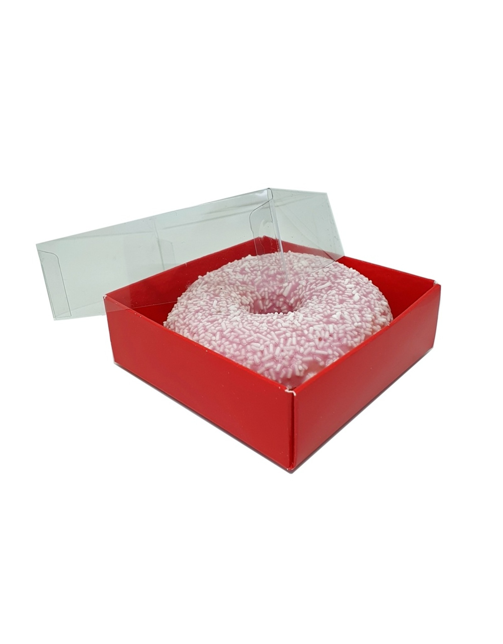 Rode mini sweets box - 90x90x30mm (per 100 stuks)