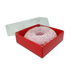 Red mini sweets box - 90x90x30mm (100 pcs.)