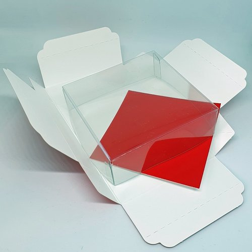 Red mini sweets box - 90x90x30mm (100 pieces)