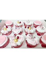 Cupcake liners pink (50 pieces)