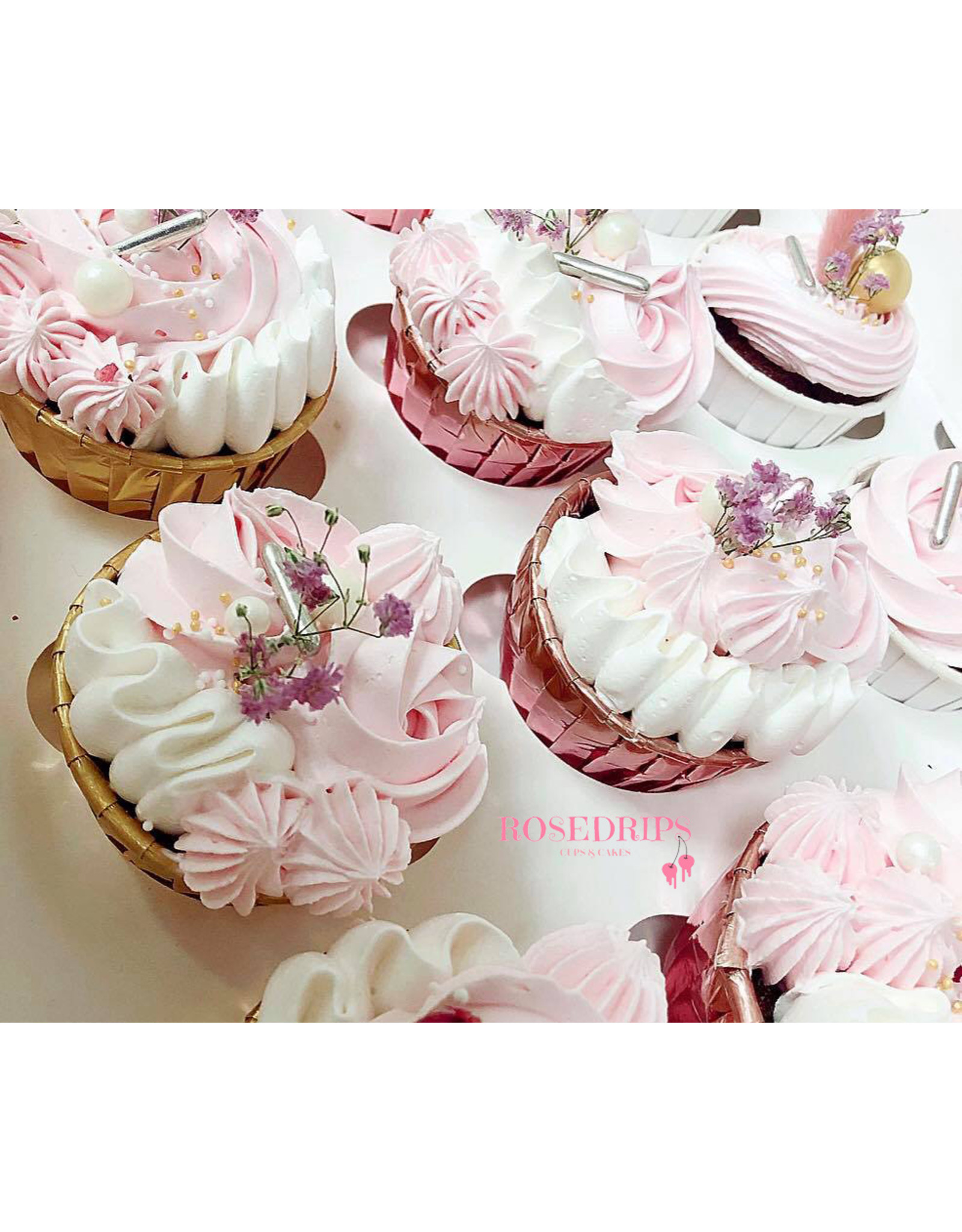 Cupcake liners gold (50 pieces)