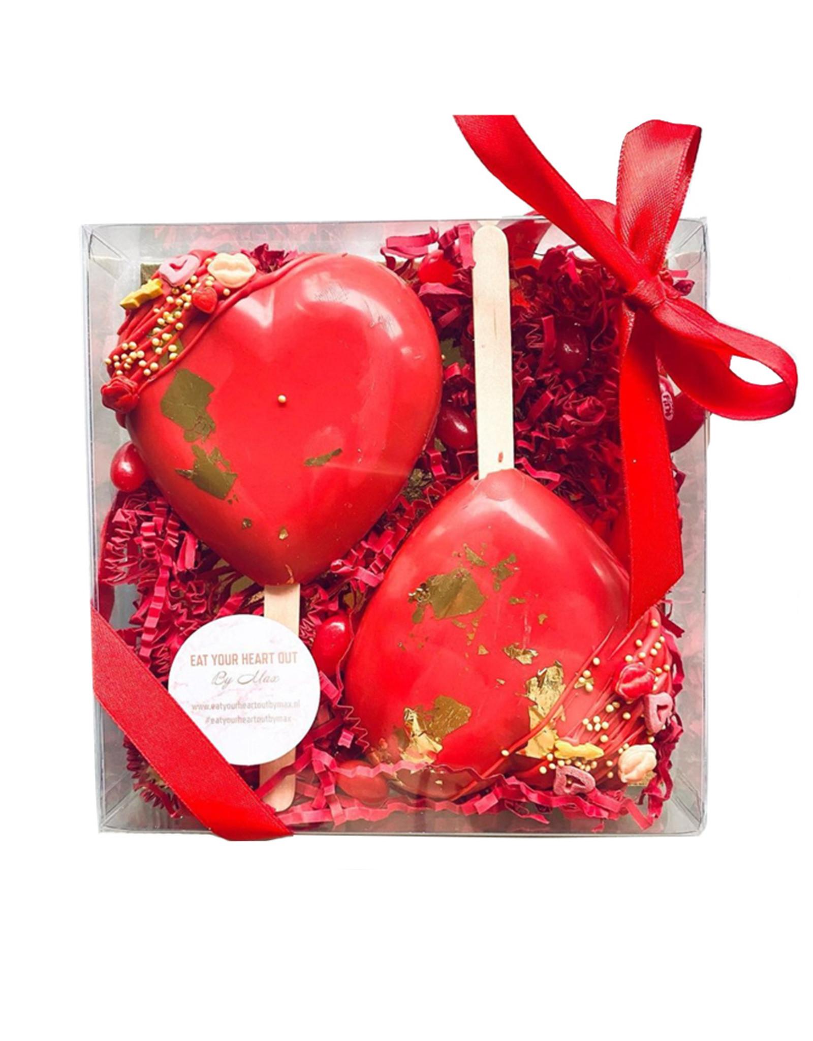 Transparante sweets box - 15 x 15 x 3 cm  (per 100 stuks)