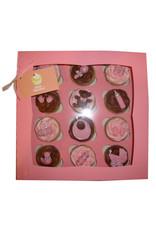 Roze doos voor 12 cupcakes (25 stuks)
