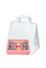 Witte tas voor dozen van 6 cupcakes (per 250 stuks)