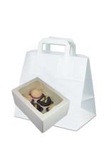 White 6 cupcake paper carrier bag (250 pcs.)