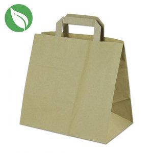 Kraft tas voor dozen van 6 cupcakes (250 st.)