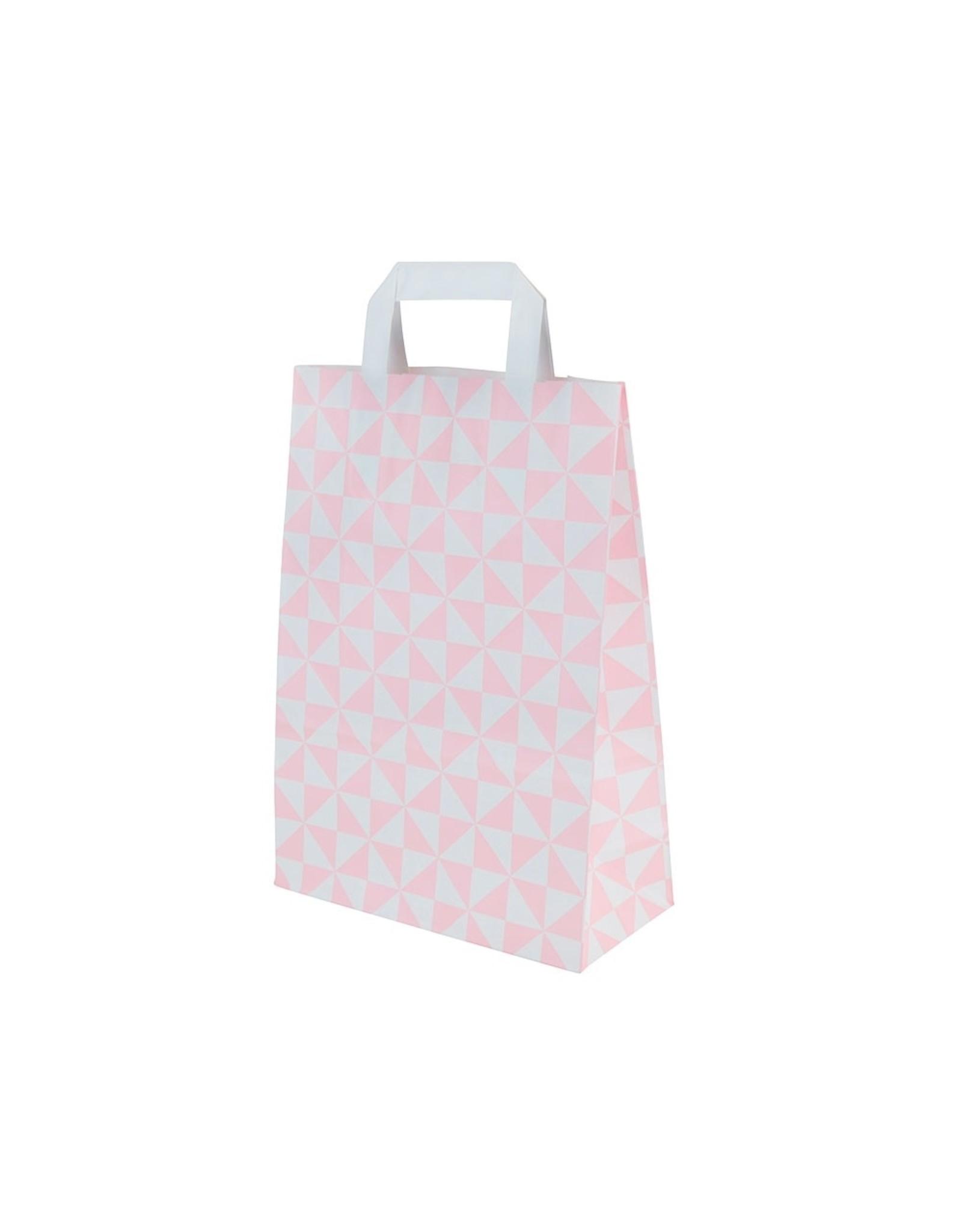 Roze tas voor dozen van 1 en 2 cupcakes (per 250 stuks)