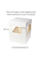 Folding 2 piece cakebox - 20 x 20 x 15 cm (50 pieces)