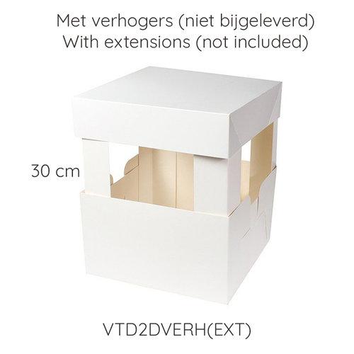 Taartdoos 2 delen - 20 x 20 x 15 cm (per 50 stuks)