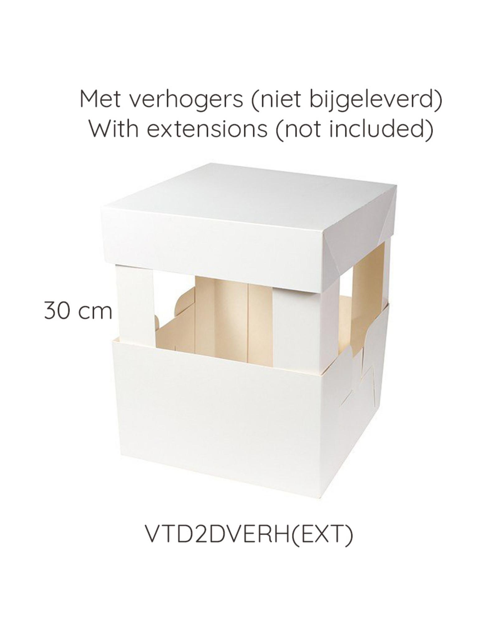 Taartdoos 2 delen - 23 x 23 x 15 cm (per 50 stuks)