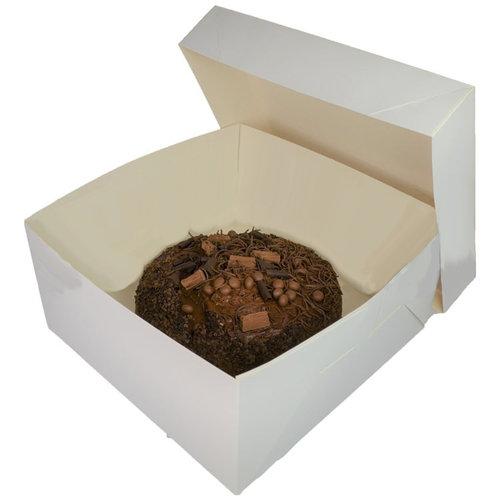 Folding 2 piece cakebox - 25 x 25 x 15 cm (50 pieces)