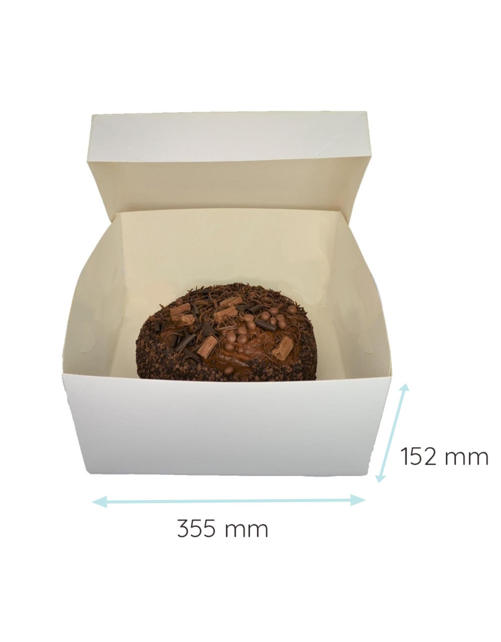 Folding 2 piece cakebox - 35 x 35 x 15 cm (50 pieces)
