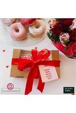 Biologisch kraft doosje voor 2 donuts of brownies (per 400 stuks)