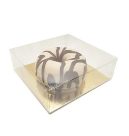 Clear box for 1 donut (100 pcs.)