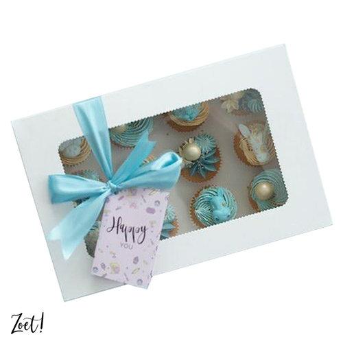 Voordelige doos voor 12 minicupcakes (10 st.)