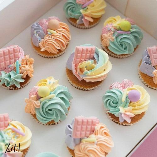 Voordelige doos voor 12 minicupcakes (per 10 stuks)