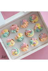 Economy box for 12 mini cupcakes (per 10 pieces)