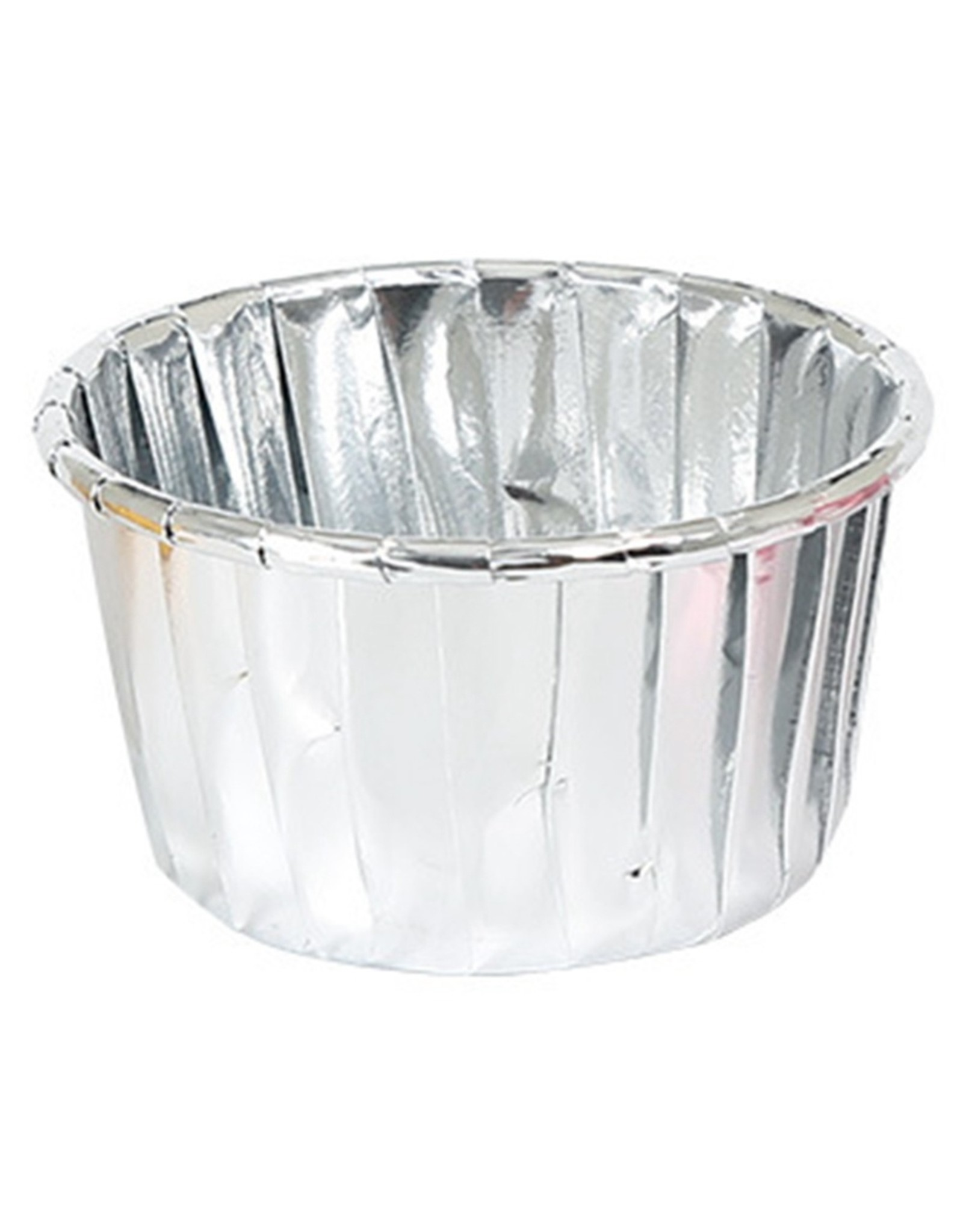 Cupcake liners silver (50 pieces)