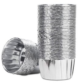 Cupcake liners silver (50 pcs.)
