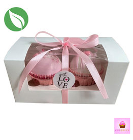 Biodegradable box for 2 cupcakes (50 pcs.)