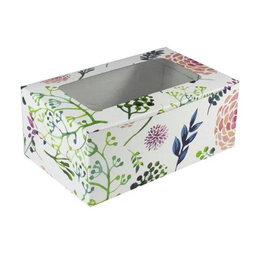 Fleurige doos voor 2 cupcakes (10 st)