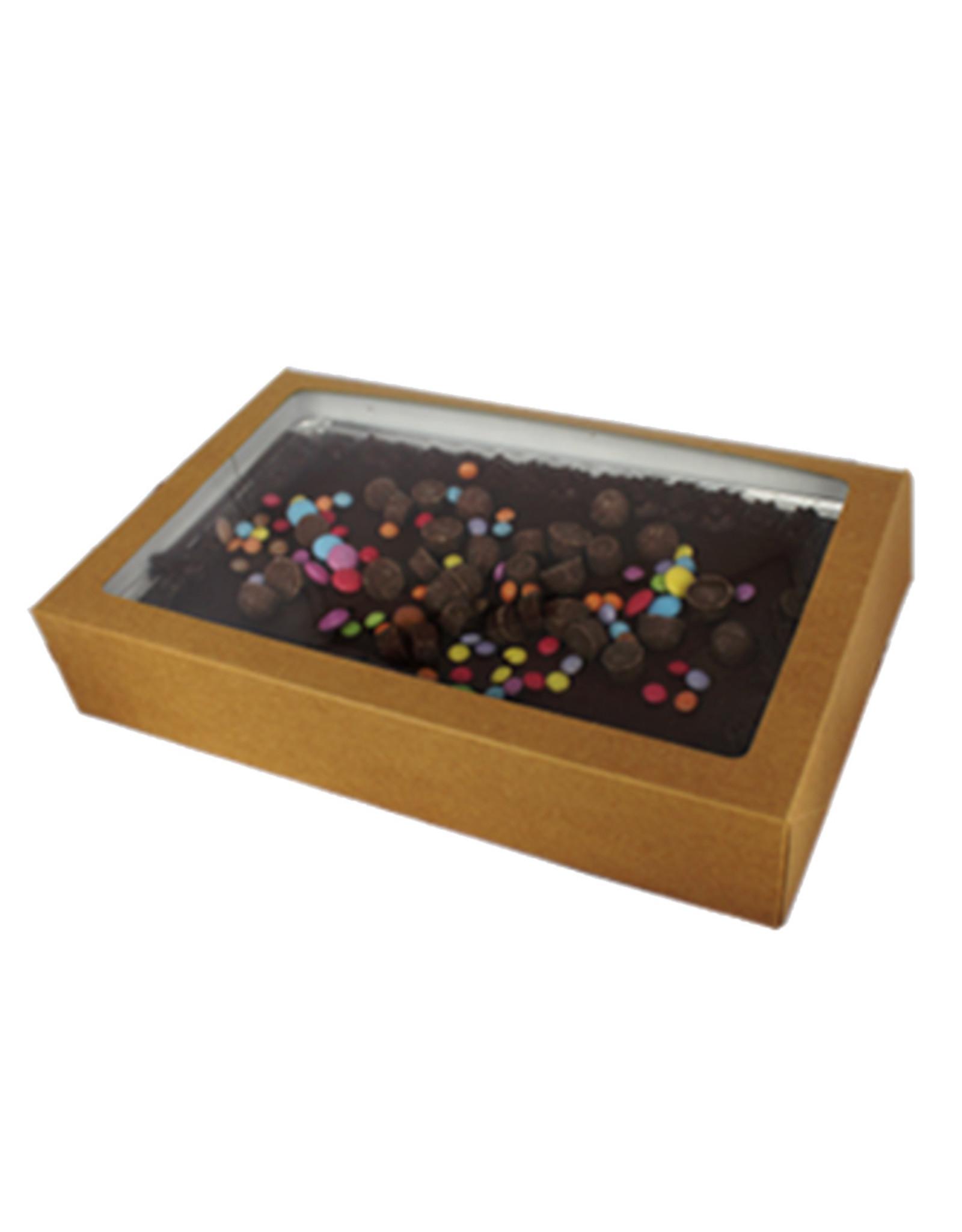 Sweets box kraft - 322 x 200 x 60 mm. (per 25 pieces)