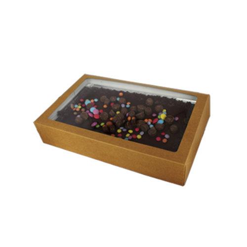 Sweetsbox kraft - 322 x 200 x 60 mm. (per 25 stuks)