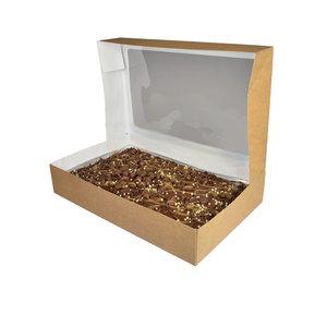 Sweets box kraft - 322x200x60 (25 pcs.)